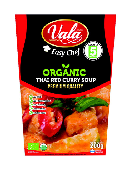 ORGANIC THAI RED CURRY SOUP - Vala Thai Food